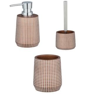 Set d'accessoires de salle de bain design Ohrid - Marron bronze