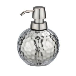 Distributeur de savon design martelé Lunas - Argent