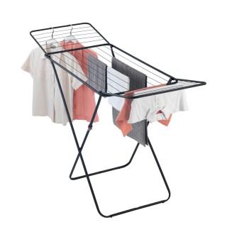 Sèche-linge pliable à bras design Champion - 18 m d'étendage - Noir