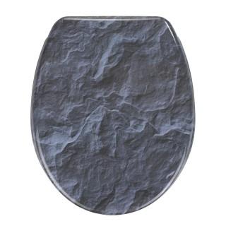Abattant WC en duroplast design Slate - Gris anthracite