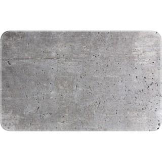 Tapis de baignoire antidérapant design ciment Concrete - L. 70 x l. 40 cm - Gris