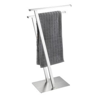 Porte-serviette design métal Lirio - L. 20 x H. 76 cm - Argent