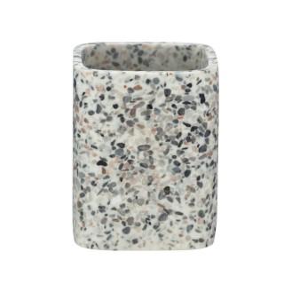 Gobelet de salle de bain design Terrazzo - Gris