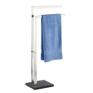 Porte-serviettes design ardoise Slate - L. 43 x H. 86 cm - Gris anthracite