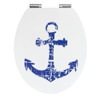 Abattant WC en MDF design bord de mer Shore - Blanc