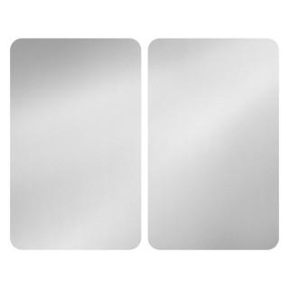 2 Couvre-plaques universel design Alfie - 30 x 52 cm - Argent