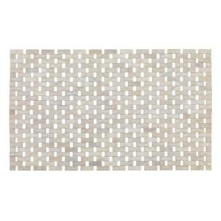 Tapis de salle de bain design Bamboo - L. 50 x l. 80 cm - Blanc