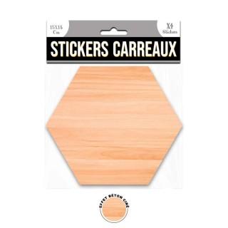 4 Stickers effet béton ciré  - 15 x 13 cm - marron