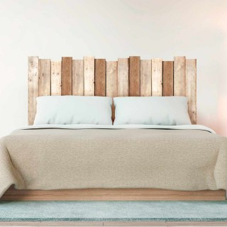 Sticker tête de lit Planche en bois - 70 x 160 cm - Marron