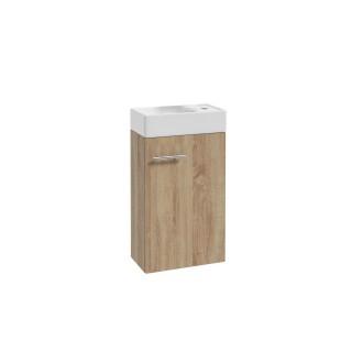 Meuble lave-mains à suspendre Mike - L. 40 x H. 68 cm - Marron Chêne