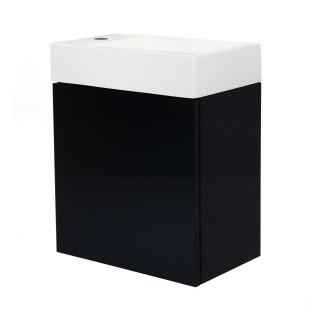 Meuble lave-mains à suspendre design Java - L. 40 x H. 48 cm - Noir