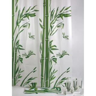 Rideau de douche bambou TEVA - 180 x 200 - Blanc