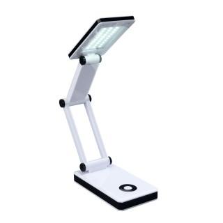 Lampe LED de bureau pliante Oka - H. 24 cm - Blanc