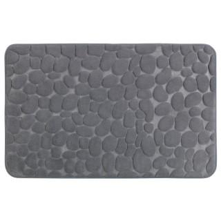 Tapis de salle de bain Pebbles - Mémoire de forme - Gris