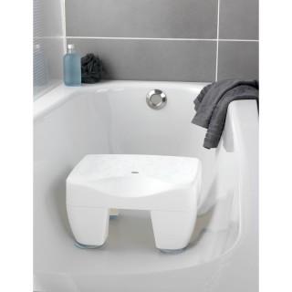 Tabouret pour baignoire Secura - Pieds antidérapants - Blanc
