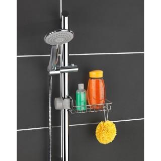 Etagère panier de douche en acier Meis - L. 23 x H. 7 cm - Argent brillant