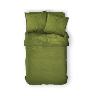 Housse de couette Bambou - 100% coton 57 fils - 220 x 240 cm - Vert