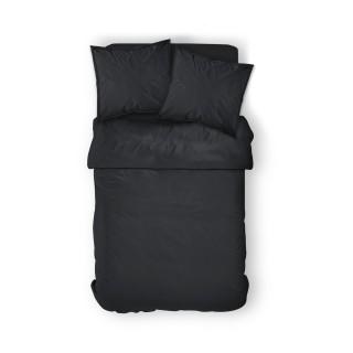 Housse de couette Réglisse - 100% coton 57 fils - 240 x 260 cm - Noir