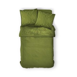 Housse de couette Bambou - 100% coton 57 fils - 240 x 260 cm - Vert