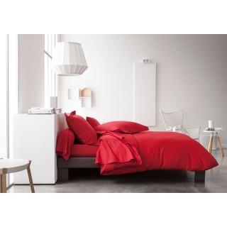 Parure de lit Pomme d'amour - 100% coton - 240 x 260 cm - Rouge