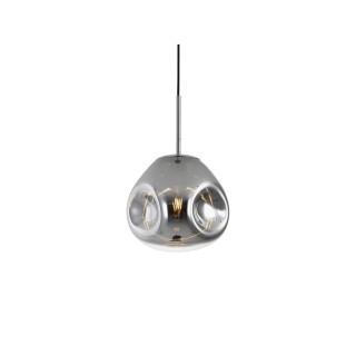 Suspension luminaire design verre Blown small - Gris chromé