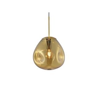 Suspension luminaire design verre Blown small - Marron cuivré