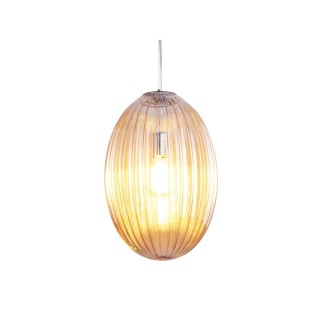 Suspension luminaire design vintage Smart large - Marron