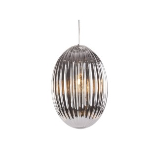 Suspension luminaire design vintage Smart large - Gris fumé