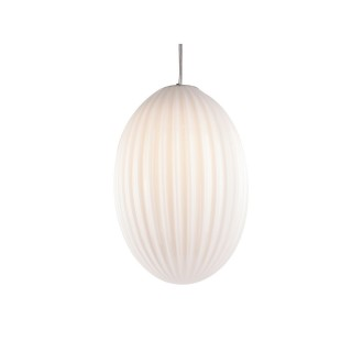 Suspension luminaire design vintage Smart large - Blanc