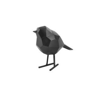 Statuette oiseau design Origami small - Noir mat