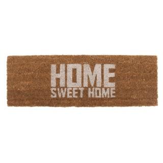 Paillasson Home Sweet Home - L. 76 x l. 25 cm - Marron