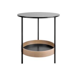 Table d'appoint ronde design Dual - Diam. 48 x H. 51 cm - Noir
