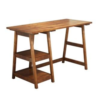 Bureau design bois Perla - L. 120 x H. 75 cm - Marron noix