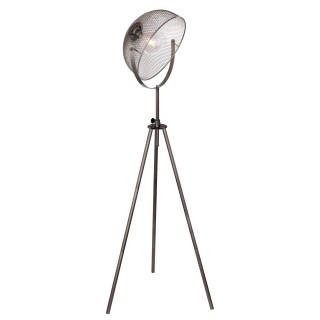 Lampadaire design vintage Moniga - H. 178 cm - Gris chromé