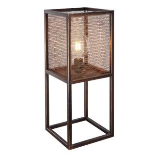 Lampe à poser design vintage Domi - L. 20 x H. 50 cm - Marron cuivré