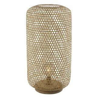 Lampadaire design bambou Mirena - Diam. 39 x H. 77 cm - Beige naturel