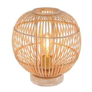 Lampe à poser design bambou Hildegard - Diam. 30 x H. 35 cm - Beige naturel