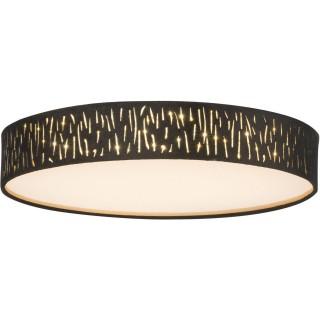 Plafonnier rond à LED design velours Tuxon -  Diam 40 cm - Noir