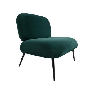 Fauteuil design velours Puffed - Vert émeraude