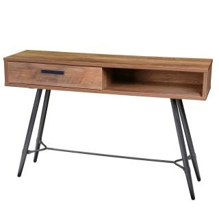 Console design bois et métal Hampton - L. 120 x H. 77 cm - Noir