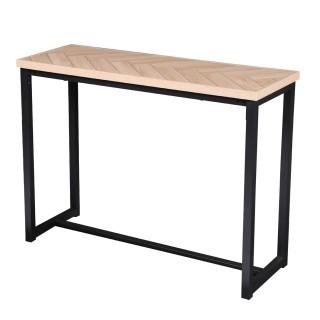 Console design bois et métal Haussmann - L. 100 x H. 78 cm - Noir