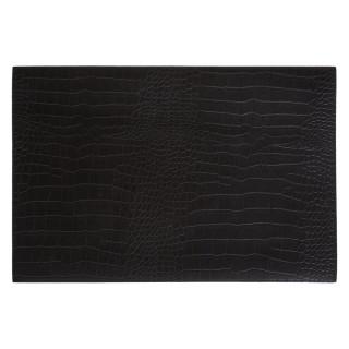 Set de table de Noël design Python - L. 45 x l. 35 cm - Noir