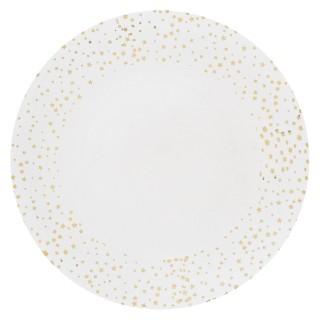 Assiette de présentation Etoile - Vaisselle de Noël - Blanc
