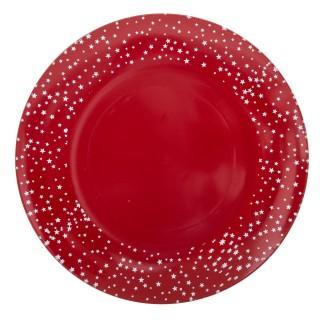 Assiette de présentation Etoile - Vaisselle de Noël - Rouge