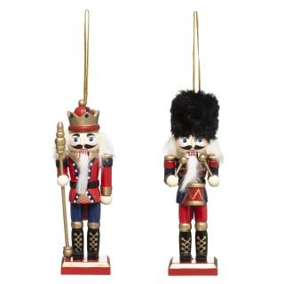 2 Décorations pour sapin de Noël design Casse-Noisette - Rouge