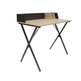 Bureau industriel Brice - L. 90 x l. 84 cm - Noir