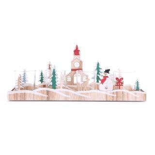 Décoration de Noël en bois Xmas Tradi - Beige