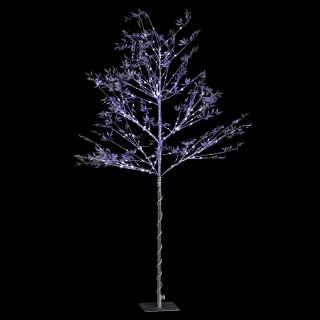 Arbre de Noël lumineux à feuilles Xmas - L. 20 x H. 220 cm - Argenté