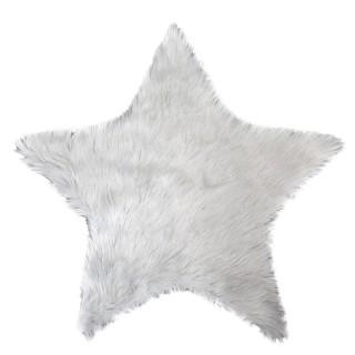 Tapis de Noël design fourrure Fantasy - Diam. 90 cm - Blanc