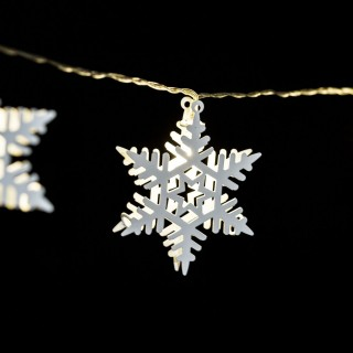 Guirlande intérieure de Noël LED étoile Xmas - L. 135 cm - Blanc
